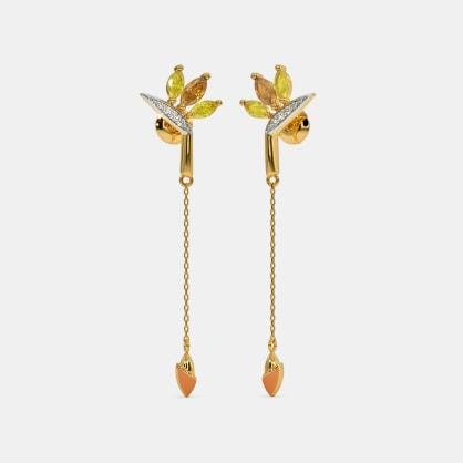 The Bird of Paradise Long Drop Earrings