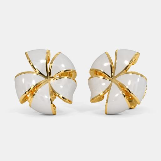 The White Frangipani Stud Earrings