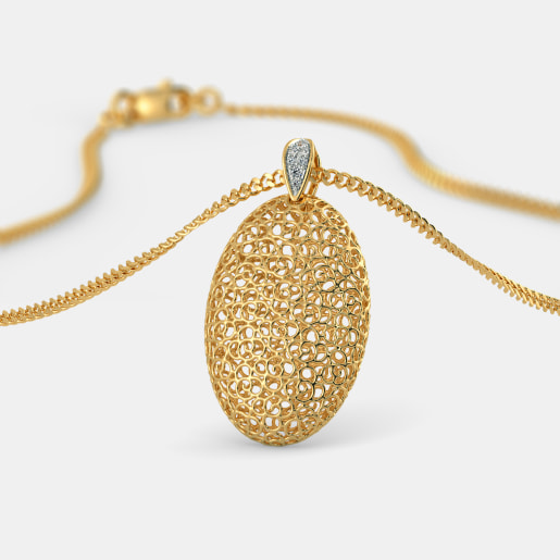 The Oval Lattice Pendant
