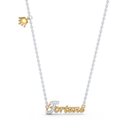 The Fortune Script Necklace