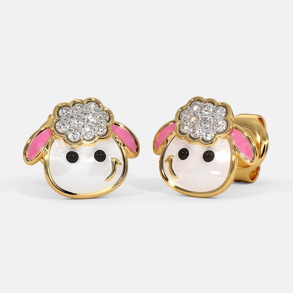 The Sheep Kids Stud Earrings