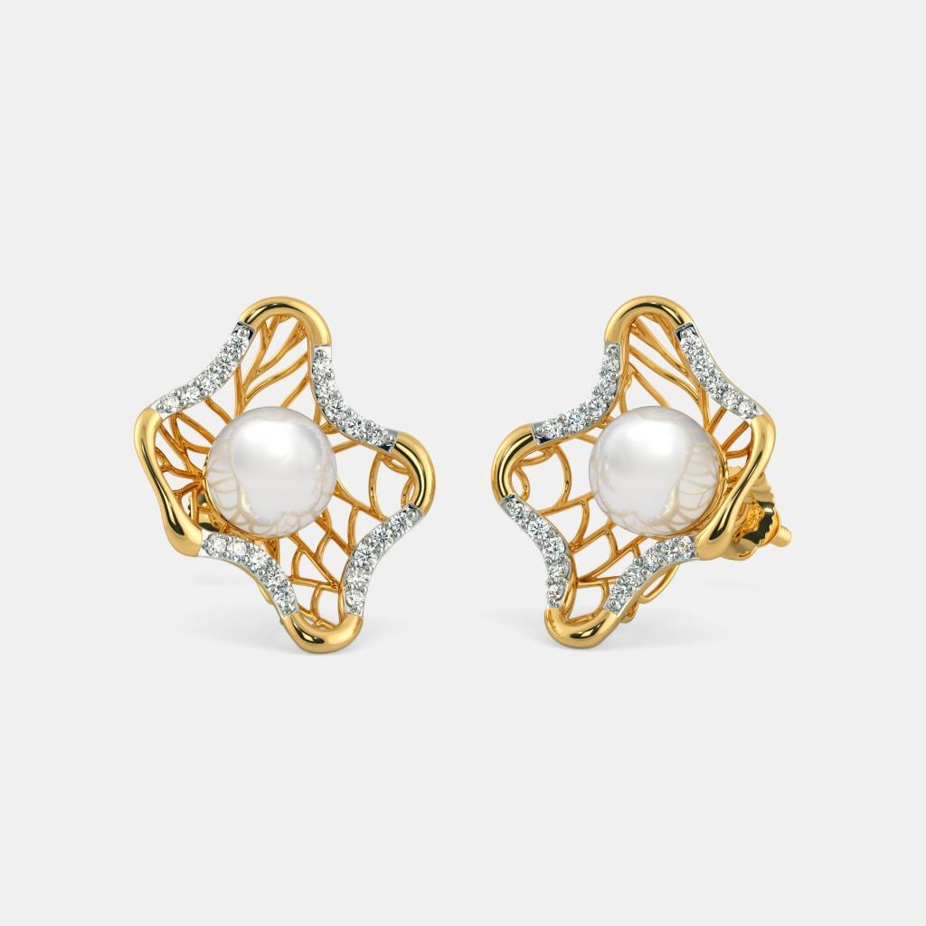 The Pearl Chasm Lattice Earrings