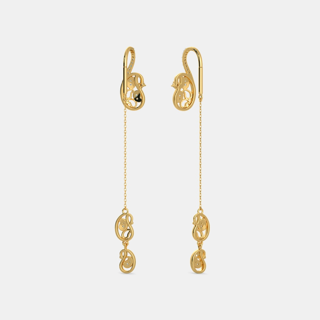 The Anvi Sui Dhaga Earrings Bluestone Com