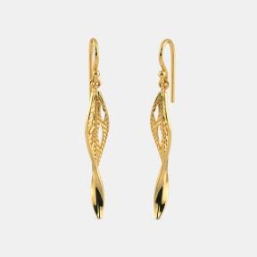 The Foglia leaf Drop Earrings