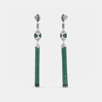 The Emerald Snake Drop Earrings