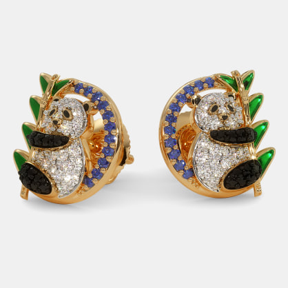 The Panda Stud Earrings