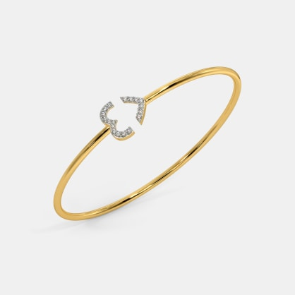 The Adair Heart Oval Bangle