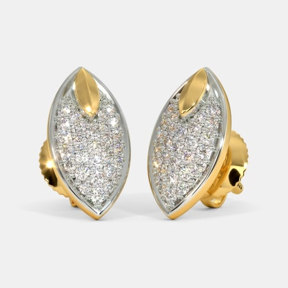 The Idris Pave Stud Earrings