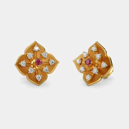 The Regal Floral Stud Earrings