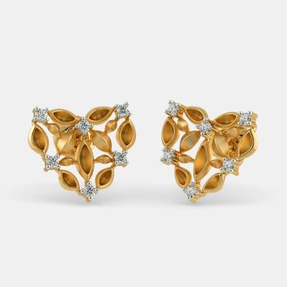 The Navette Heart Stud Earrings