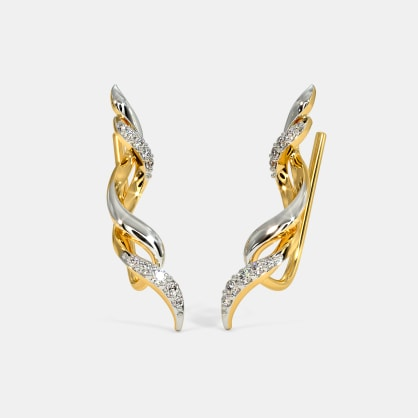 The Entwined Ribbon Ear Cuffs