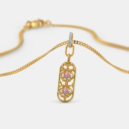 The Ornate Oblong Pendant