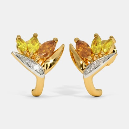 The Bird of Paradise J Hoop Earrings