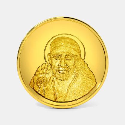 2 gram 24 KT Saibaba Gold Coin