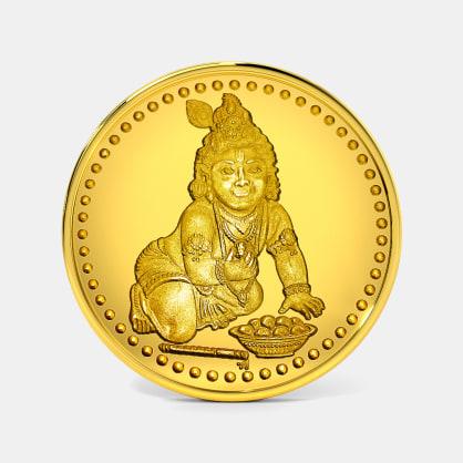 5 gram 24 KT Krishna Gold Coin