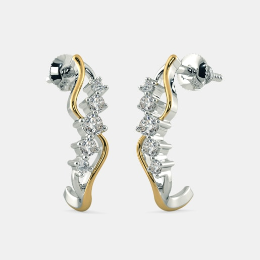The Twisting Tango J Hoop Earrings