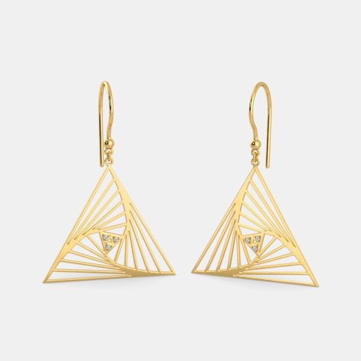 The Peachy Glam Drop Earrings