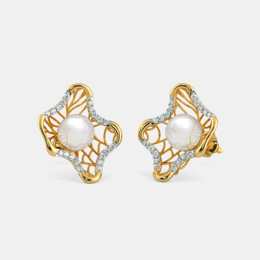 The Pearl Chasm Lattice Earrings