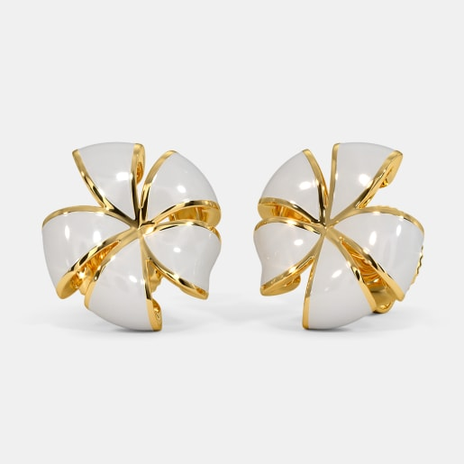 The White Frangipani Stud Earrings