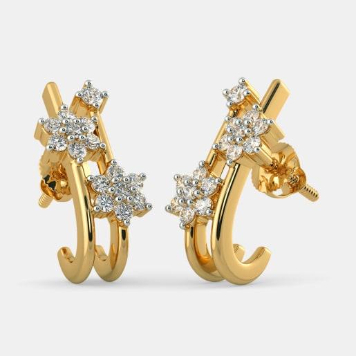 The Almas J Hoop Earrings