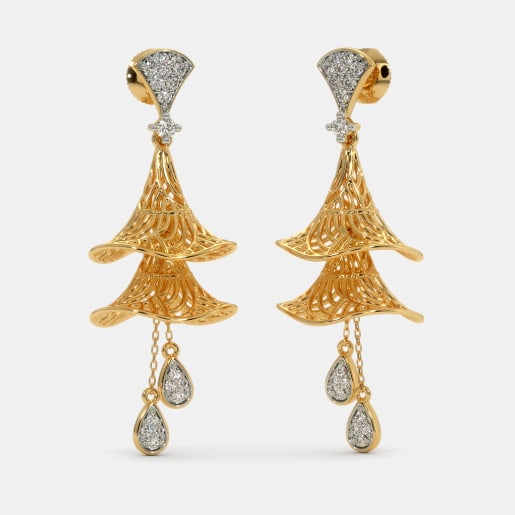 338f5e1bcdf34 Buy 50+ Gold Jhumka Earring Designs Online in India 2019 | BlueStone.com