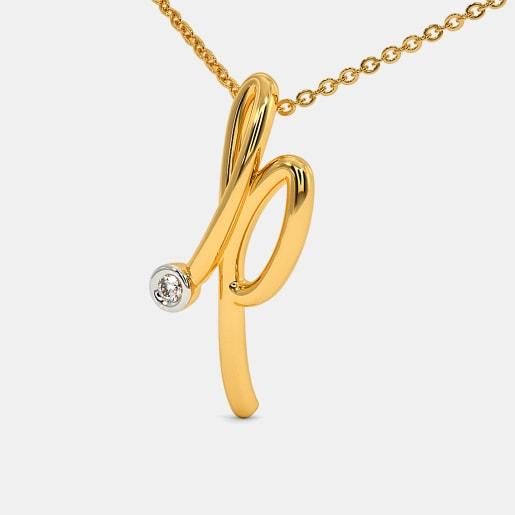 The Cursive P Necklace