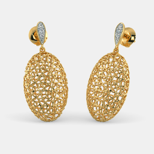 The Oval Lattice Earrings