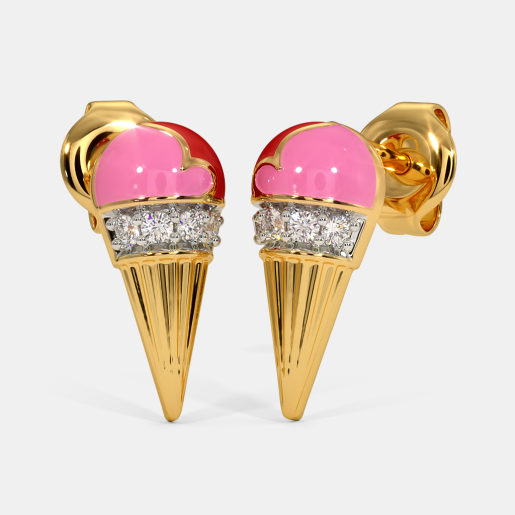 The Icecream Cone Kids Stud Earrings