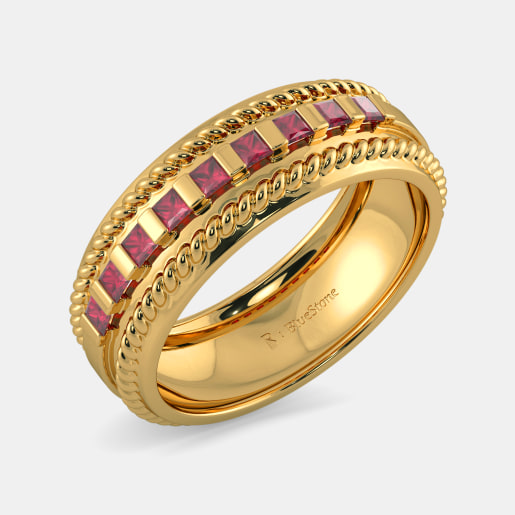 98a5120d7 Buy 150+ Men's White Gold Ring Designs Online in India 2019 ...