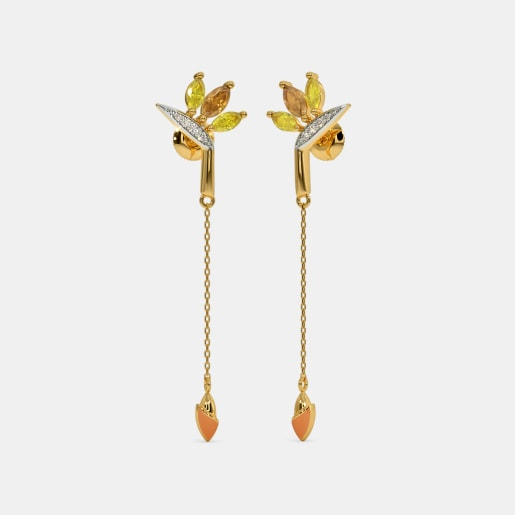 The Bird of Paradise Long Drop Earrings