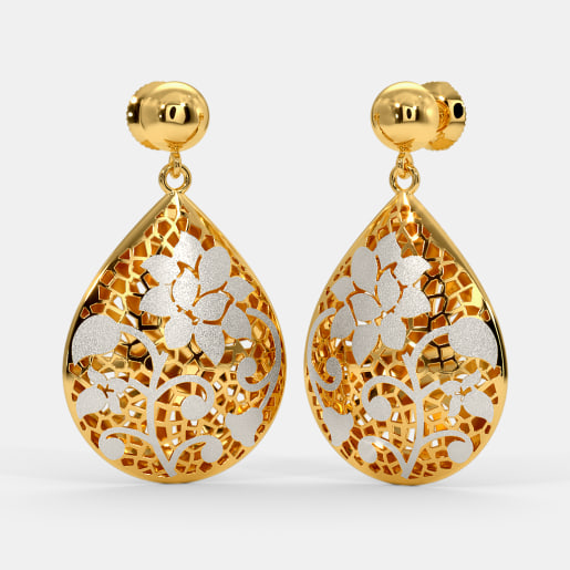 b5901185876d9 Buy 200+ 22k Gold Earring Designs Online in India 2019 | BlueStone.com