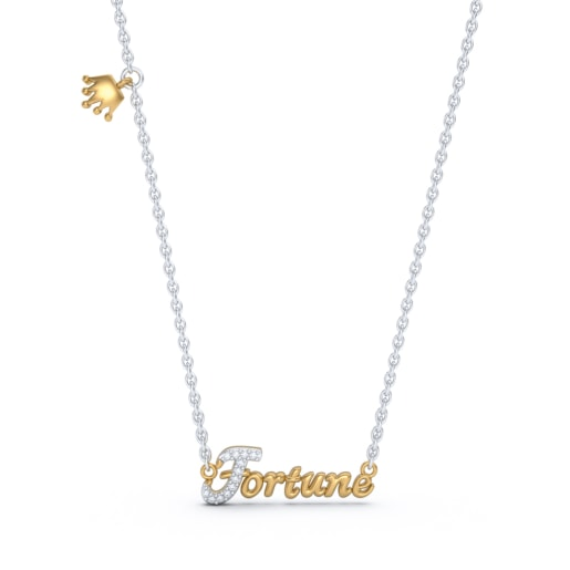 The Fortune Script Necklace